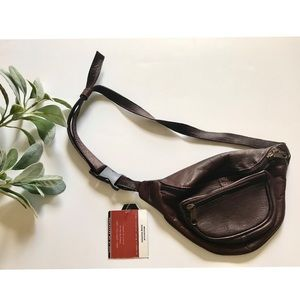 Vintage Genuine Leather Brown Fanny Pack